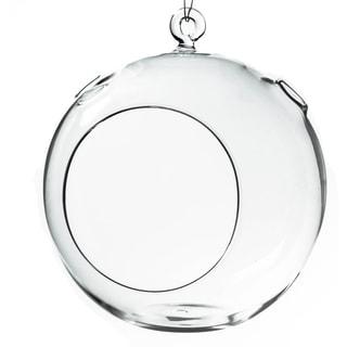 Clear Glass 7-inch Round Hanging Votive Candleholder/Terrarium