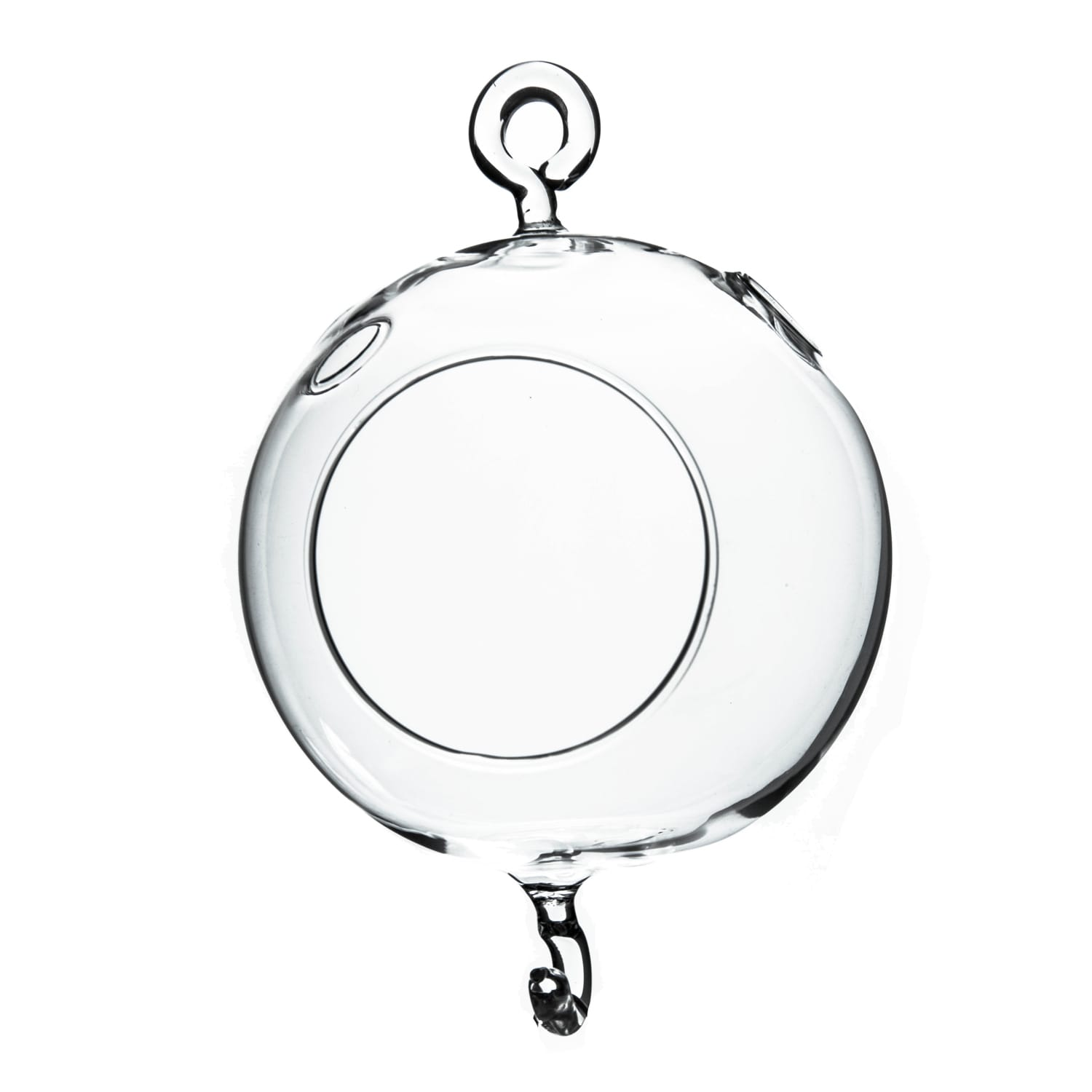 Clear Glass 4-inch Round Hanging Votive Candleholder/Terr...