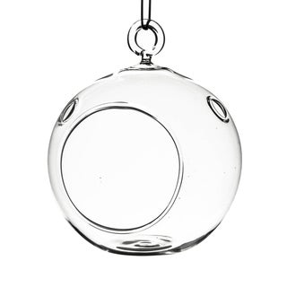 Clear Glass 3-inch Round Hanging Votive Candle Holder Terrarium Vases (Pack of 6)