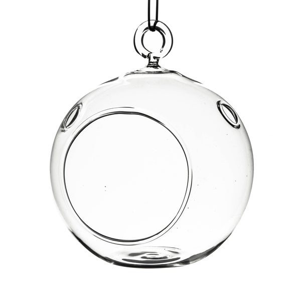 Shop Clear Glass 3 Inch Round Hanging Votive Candle Holder