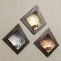 Danya B. Candle Sconce Set with Gold, Silver & Copper Leaf Backing