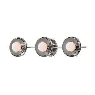 Hudson Valley Julien 3-Light Polished Nickel Bath Bracket