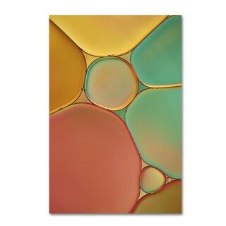 Cora Niele 'Red Yellow and Green Drops' Canvas Art