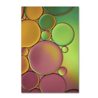 Cora Niele 'Green and Orange Drops' Canvas Art