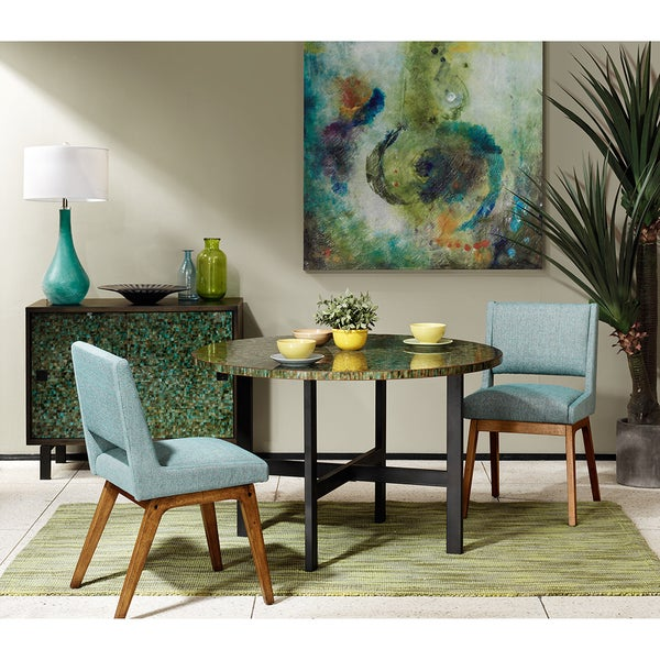 Shop Ink Ivy Mosaic Green Java Round Dining Table Green Java