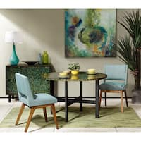 INK + IVY Mosaic Green/ Java Round Dining Table - Green/Java