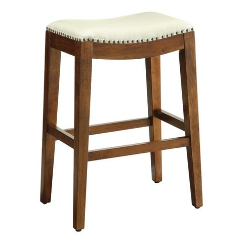 Copper Grove Five Bridge 29-inch Saddle Style Bar Stool with Nail Head Accents