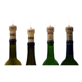 Epicureanist Champagne Cork Candles 5 boxes, 20 candles