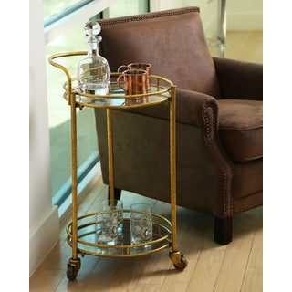 ABBYSON LIVING Marriot 2-tier Cylinder Bar Cart