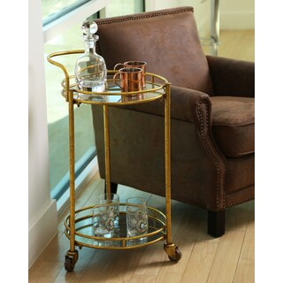 Abbyson Marriot 2-tier Cylinder Bar Cart