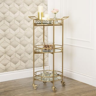 ABBYSON LIVING Marriot 3-tier Cylinder Bar Cart