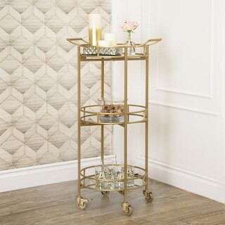 Abbyson Marriot 3-tier Cylinder Bar Cart