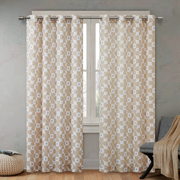 Shop Urban Habitat June Printed Sheer Curtain Panel 3