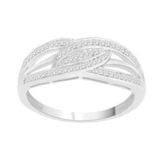 Trillion Designs Sterling Silver 1/6ct TDW Natural Diamond Ring (H-I, I1-I2)