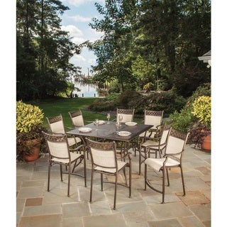 Oakland Bali Collection Cast Aluminum Outdoor 9-Piece Dining Set
