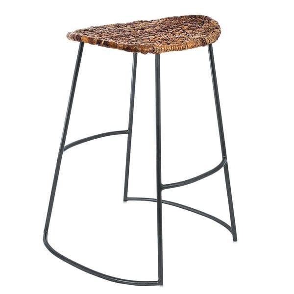 Seagrass Bar Stools: Shop BirdRock Home Industrial Seagrass Bar Stools (Set Of