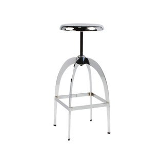 Kate and Laurel Tomi High-shine Chrome Metal Backless Bar Stool With Adjustable Swivel Seat