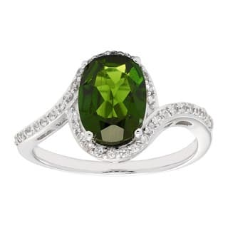STERLING SILVER CHROME DIOPSIDE WHITE ZIRCON RING|https://ak1.ostkcdn.com/images/products/12372258/P19197311.jpg?impolicy=medium