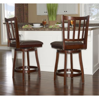 Powell Sampson Dark Brown Rubberwood Counterstool