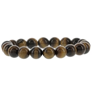 Fox and Baubles Tiger Eye Men's Beaded Stretch Bracelet