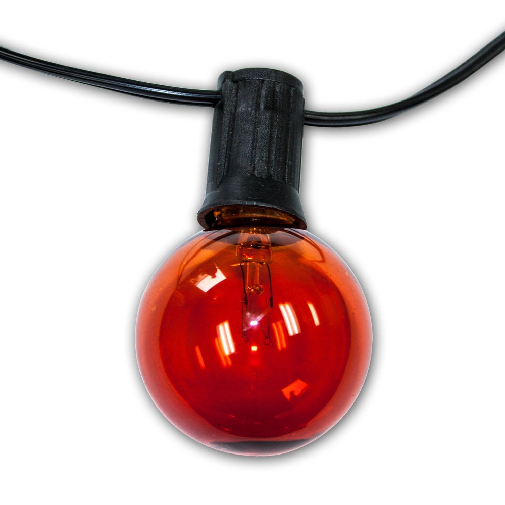 Amber 24-bulb Party Lights with 25' Green Cord (25 Ft.) (...