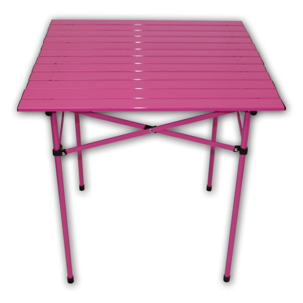 Tall Portable Fuchsia Aluminum Table