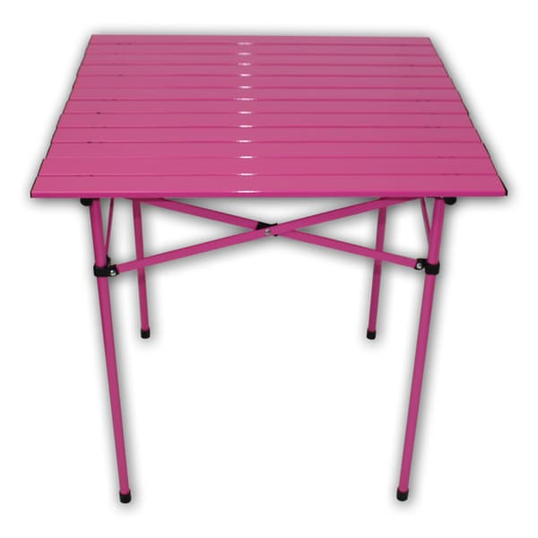 Tall Portable Fuchsia Aluminum Table