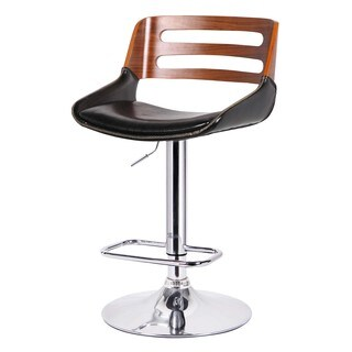 Shelton Gas-lift Low-back Chrome-finished Adustable-height Bar Stool