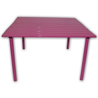 Portable Fuchsia Aluminum Table
