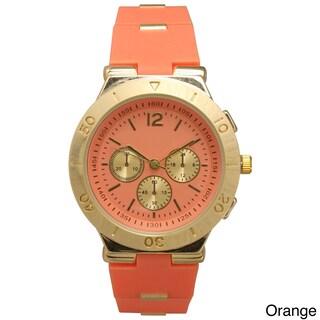Olivia Pratt Women's Genuine Beautiful 3-dial Watch (Option: Orange)