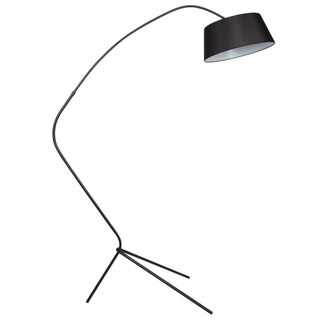 Euro Style Collection Nice Black Metal 71-inch Body Floor Lamp