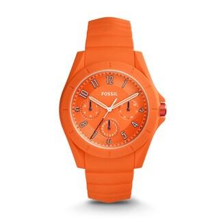 Fossil Women's FS5217 Poptastic Sport Multi-Function Orange Dial Orange Silicone Watch