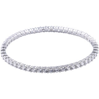 Pave Crystal All-around Slip-on Bangle