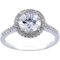 Sterling Silver 2-carat Equivalent Cubic Zirconia Solitare Engagement Ring