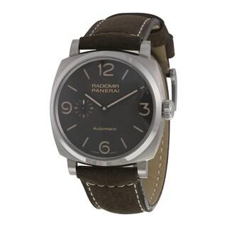 Panerai Men's PAM00619 'Radiomir 1940 Titanio' 3 Days Automatic Brown Leather Watch