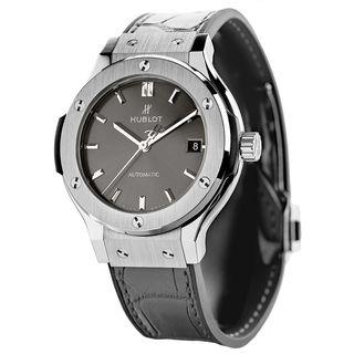 Hublot Men's 511.NX.7071.LR 'Classic Fusion Racing' Automatic Grey Leather Watch