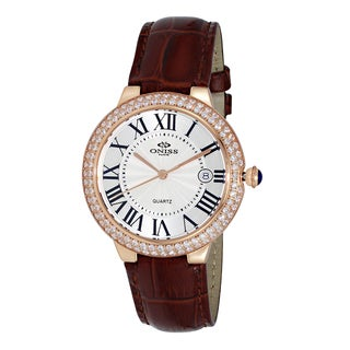 Oniss ON3322 Women's Brown Leather Swiss Quartz Watch