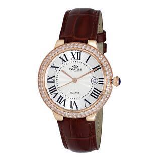 Oniss ON3322 Women's Brown Leather Swiss Quartz Watch|https://ak1.ostkcdn.com/images/products/12375800/P19199924.jpg?impolicy=medium