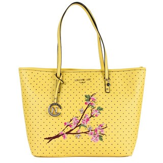 Nicole Lee Kayley Yellow Floral Embellishment Shopper Tote Bag