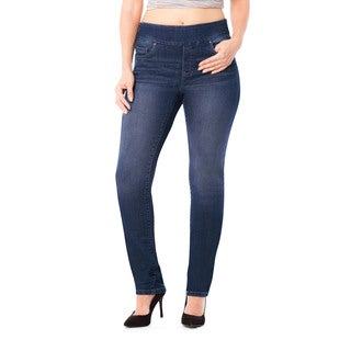 Bluberry Denim Women's Mkenzie Medium Blue Denim Plus-size Slim-leg Pants