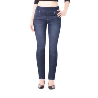 Bluberry Women's Mkenzie Medium-wash Blue Denim Slim-leg Jean