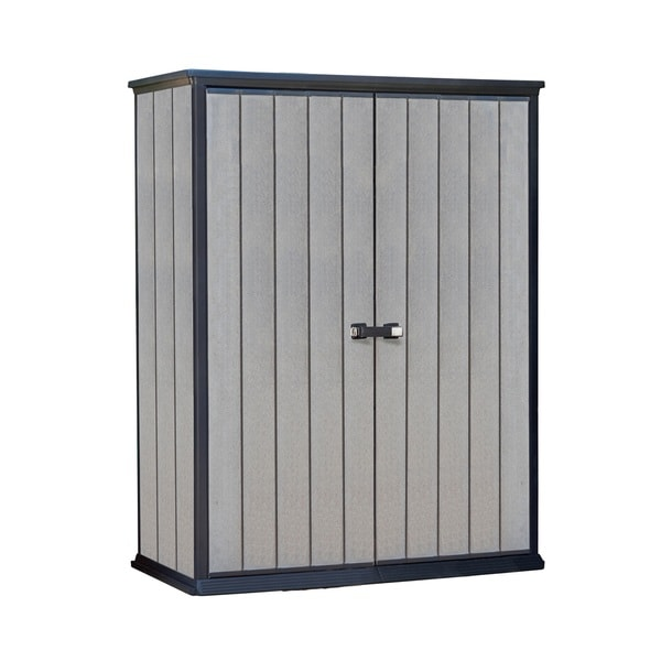 Keter High Store Grey Wood Look Outdoor Storage Shed