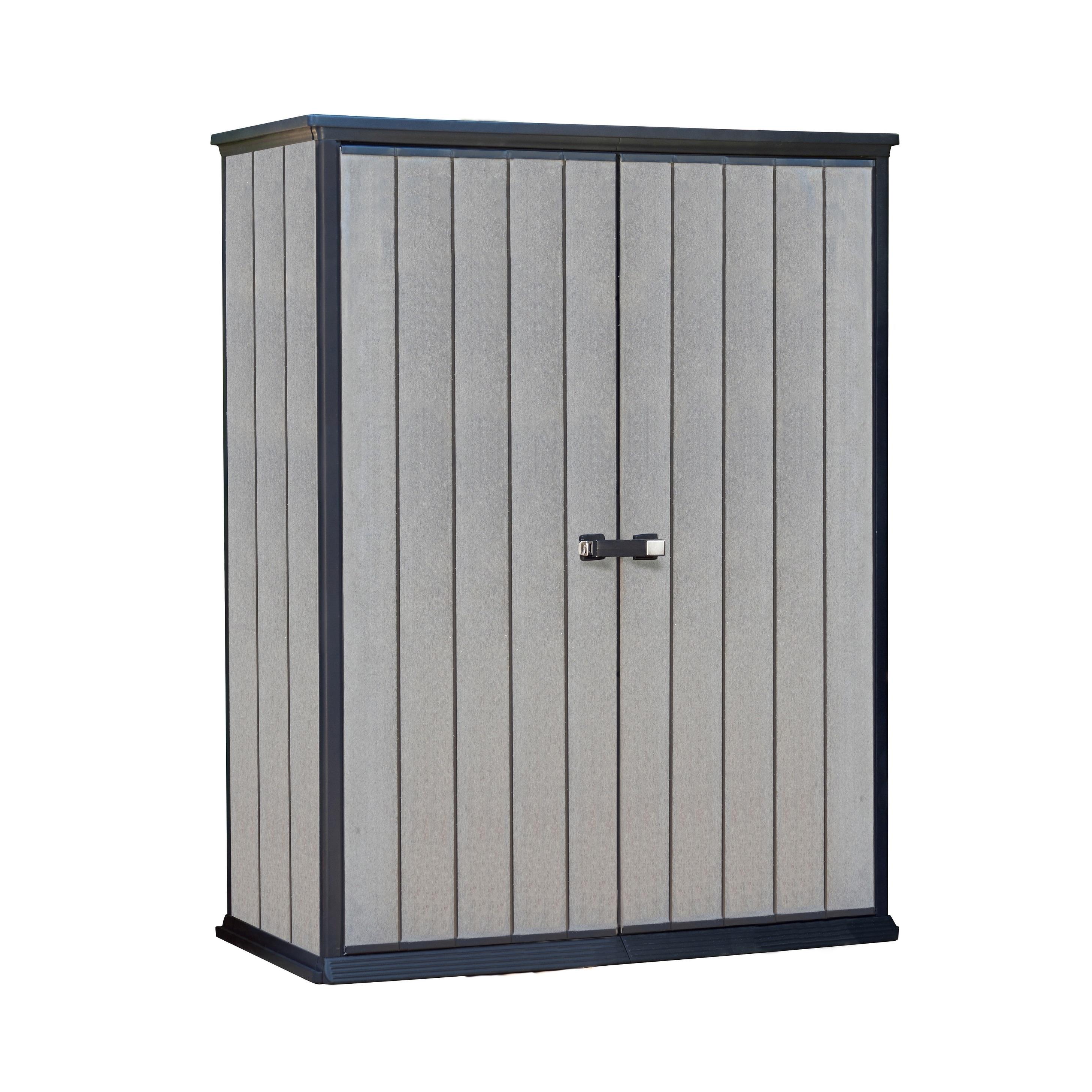 Keter High Store Grey Wood-Look Outdoor Vertical Garden S...