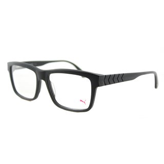 Puma PU 0048O 00 Matte Black Plastic 55-millimeter Square Eyeglasses