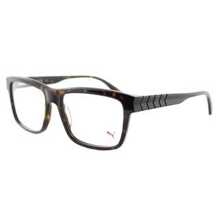 Puma PU 0048O 003 Havana Plastic Square Eyeglasses 55mm