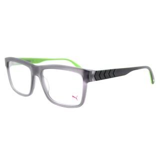 Puma Matte Grey Plastic Square 55-millimeter Eyeglasses