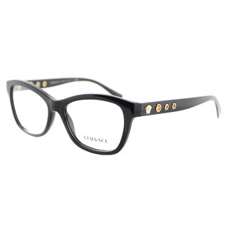 Versace VE 3225 GB1 Black Plastic 54-millimeter Cat-eye Eyeglasses