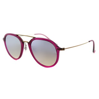 Ray-Ban RB 4253 62359U Shiny Fuxia Plastic Square Sunglasses with Grey Flash Gradient Lenses