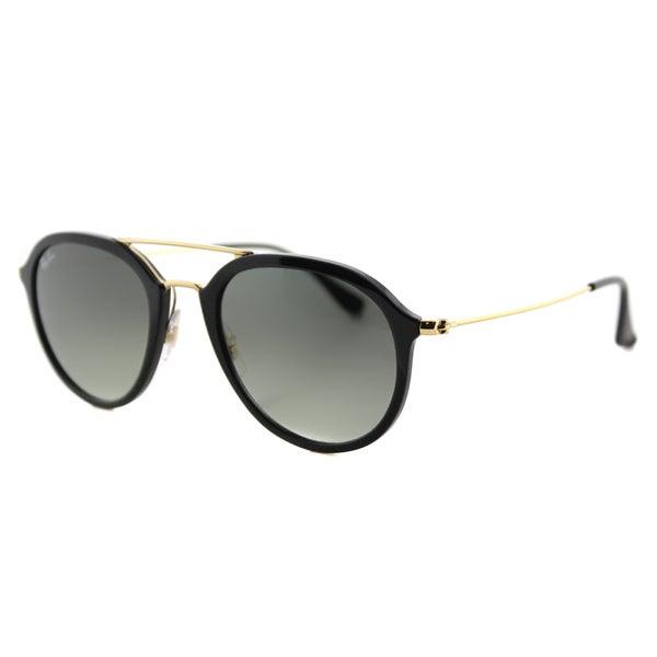 238ac9fd28 Ray-Ban RB 4253 601 71 Black Plastic Square Sunglasses with Grey Gradient  Lens