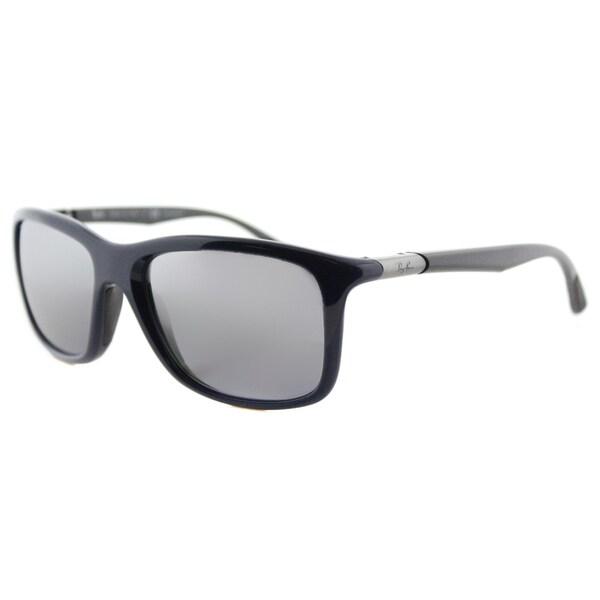 bcff4569386 Ray-Ban RB 8352 622282 Grey Polarized Lenses Blue Plastic Sport Sunglasses